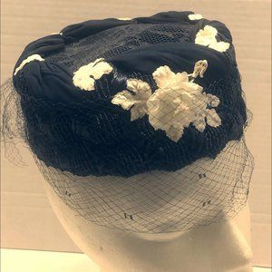 Vintage Navy Button Style Hat